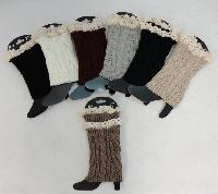 Knitted Boot Cuffs [Cable Knit/Antique Lace]
